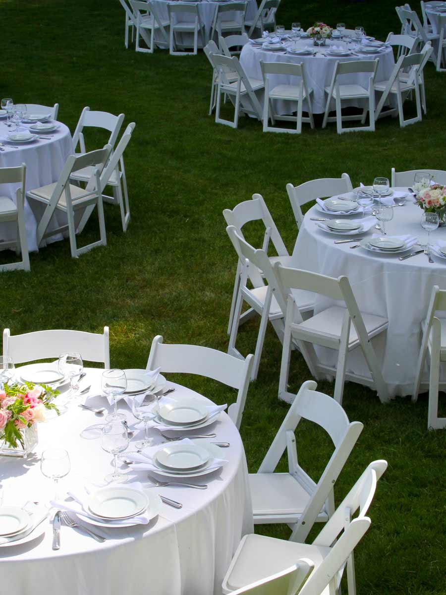 Wedding Reception on the lawn at River Terrace Inn
